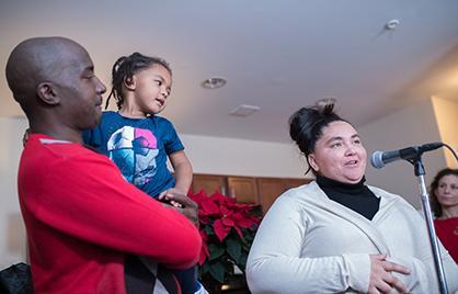 Mayor Muriel Bowser celebrated the Gonzalez family